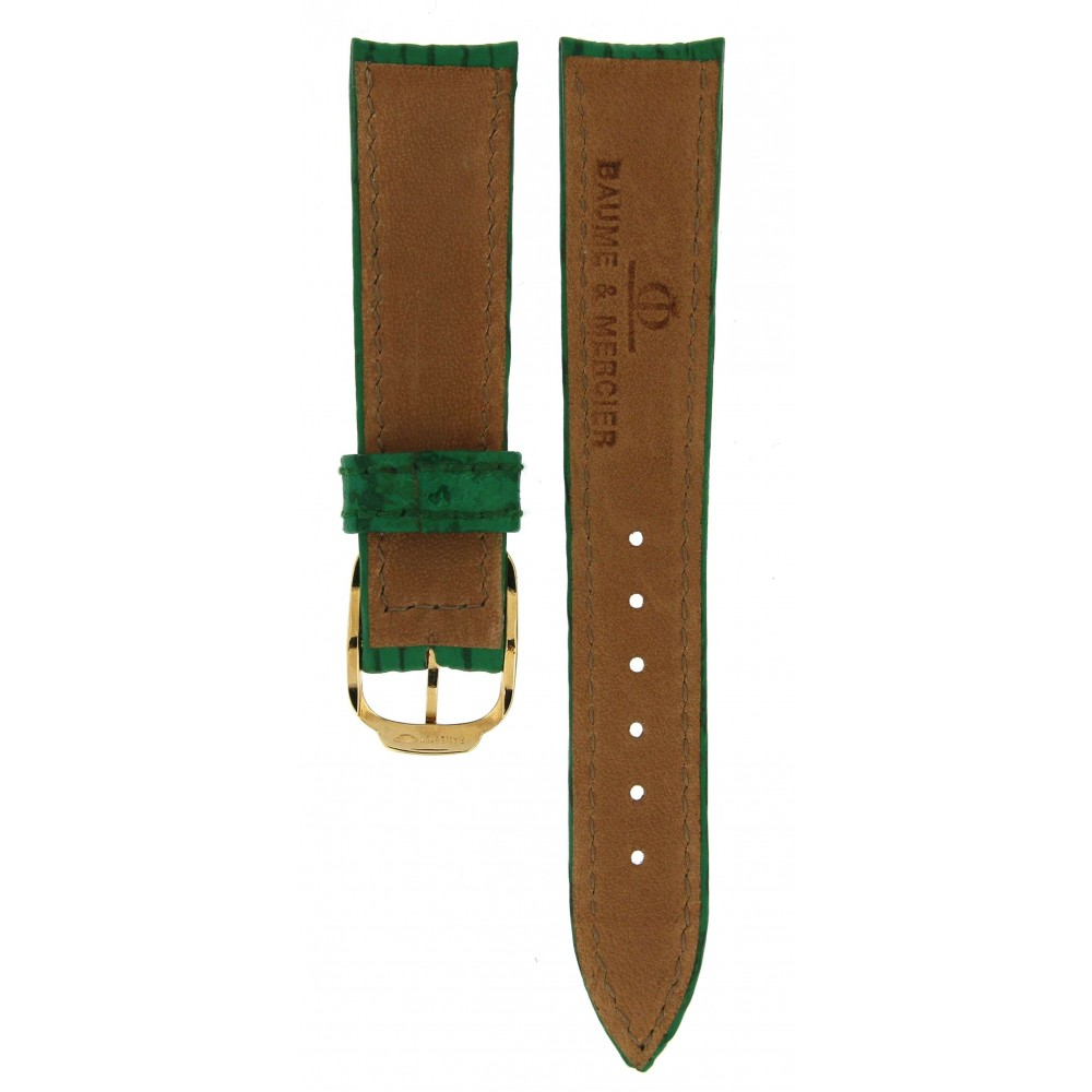 BAUME and MERCIER GREEN LEATHER STRAP 16.5MM/14MM ACC512 .-02