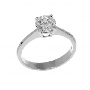 SOLITAIRE RING IN WHITE GOLD 1.20 CT I VS J839-20