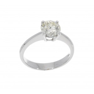 SOLITAIRE RING IN WHITE GOLD 1.51 CT O-P VS2 J840-20
