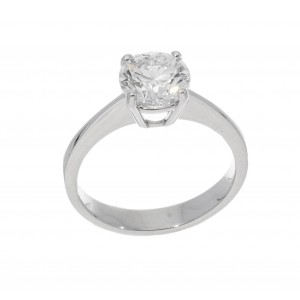 SOLITAIRE RING IN WHITE GOLD 2.01 CT G SI1 J843-20