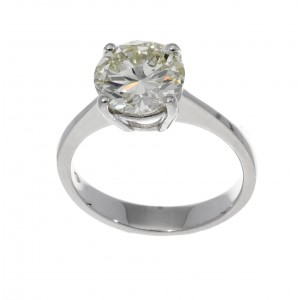 SOLITAIRE RING IN WHITE GOLD 2.63 CT N VVS2 J841-20