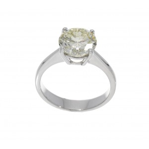 SOLITAIRE RING IN WHITE GOLD 3.12 CT J842-20