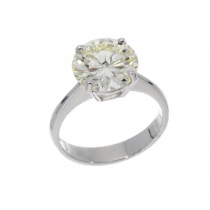 SOLITAURE RING IN WIHTE GOLD 4.42 CT N VVS2 J844-20