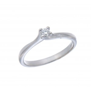SOLITAIRE DIAMOND RING IN WHITE GOLD ROUND CUT 0.08CT J838-20