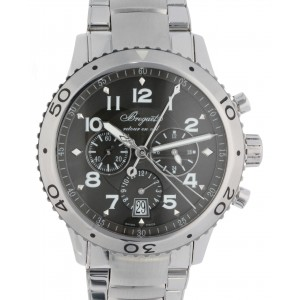 TRANSATLANTIQUE TYPE XXL FLYBACK CHRONOGRAPHE 3810 STEEL 42MM W2439 3810-20
