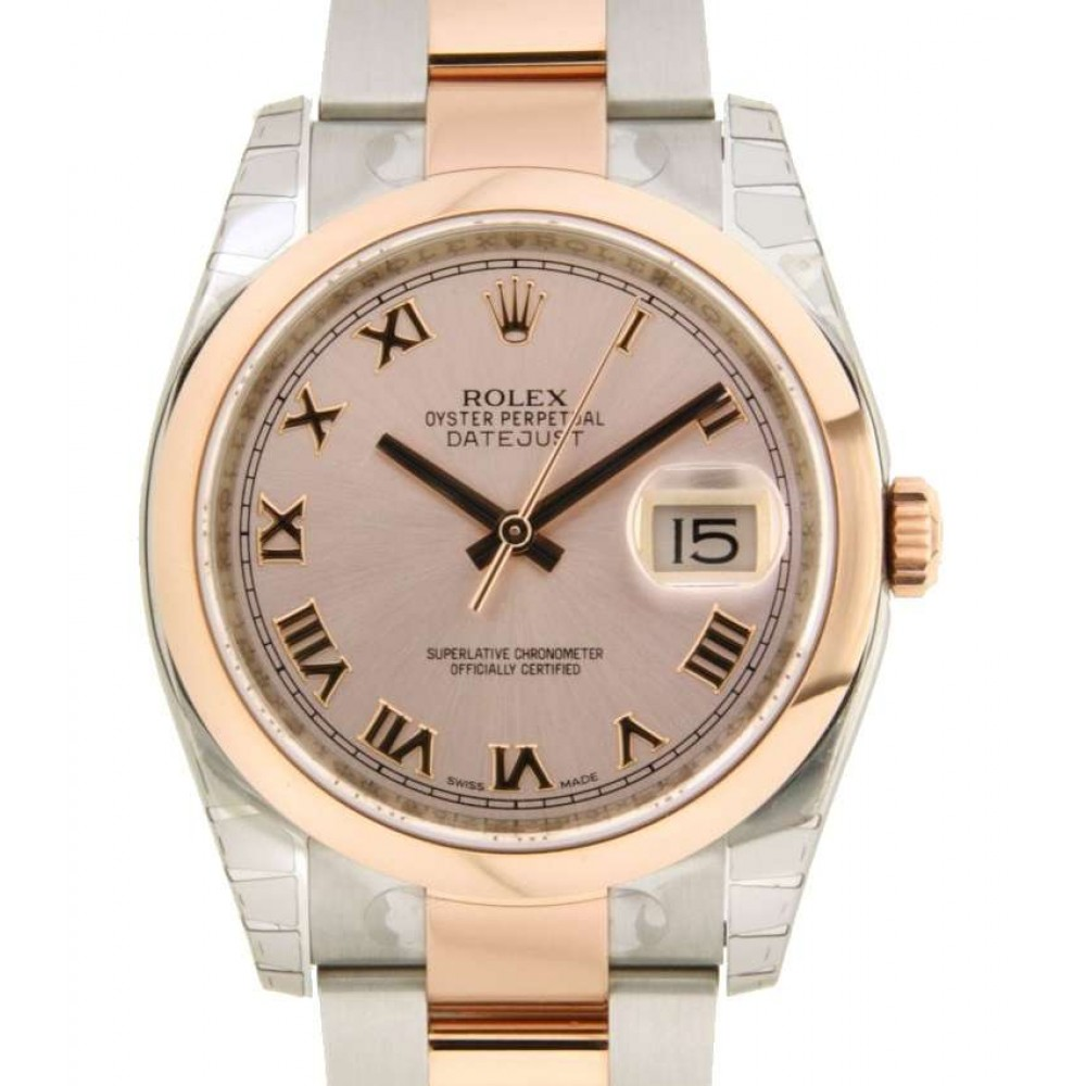 DATEJUST 36 116201 STEEL, ROSE GOLD, 36MM W578 116201-02