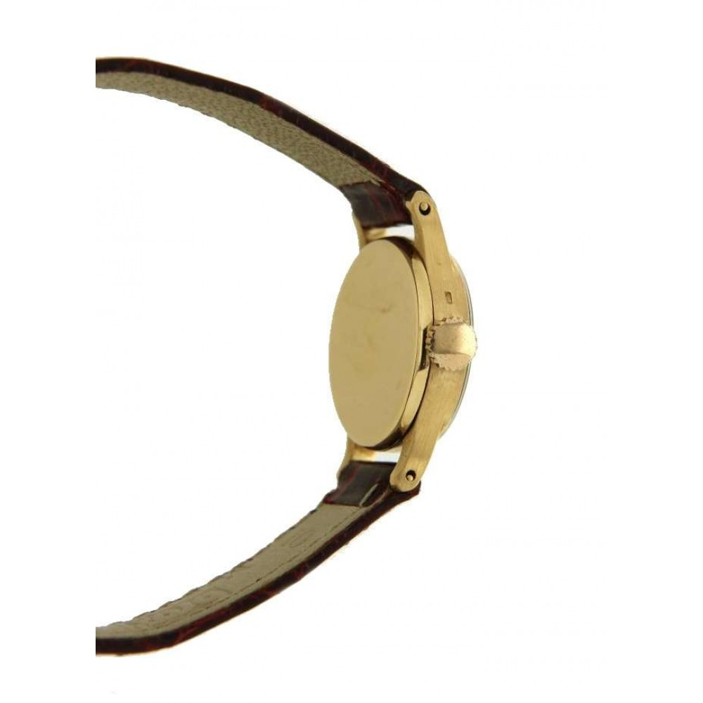 LADY 1289 IN YELLOW GOLD AND LEATHER, 21MM W609 1289-04
