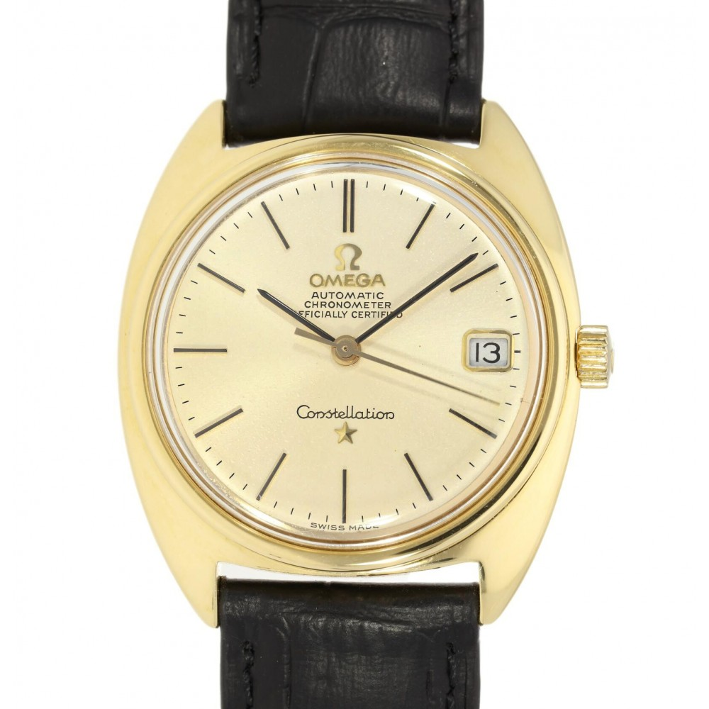 CONSTELLATION 168009 YELLOW GOLD LEATHER 35MM W4031 168009-04
