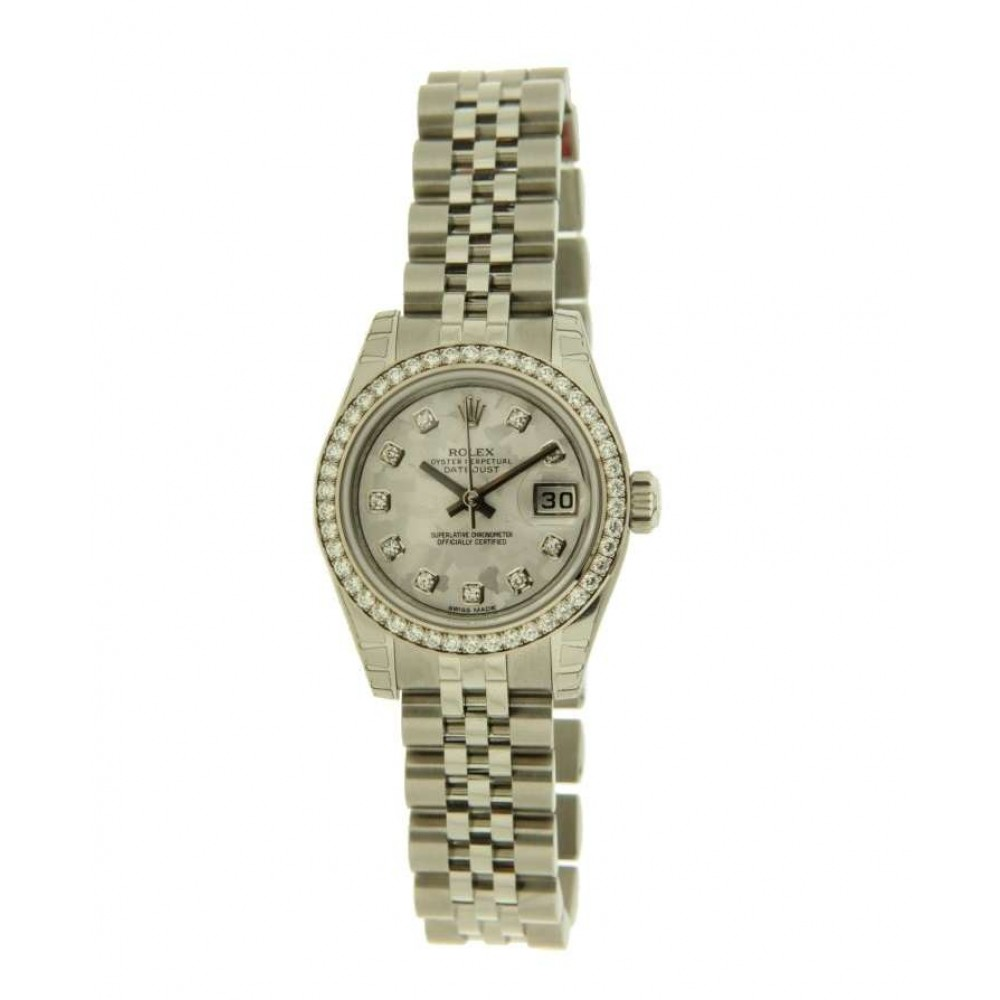 DATEJUST 26 LADY 179384 STEEL, DIAMONDS AND GOLD CRYSTEL DIAL, 26MM W623 179384-05
