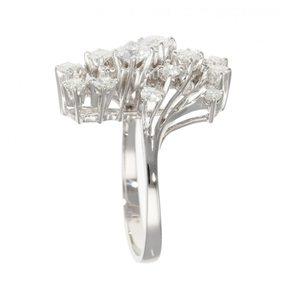 RING IN WHITE GOLD 18K AND 2ct DIAMOND J1257-03