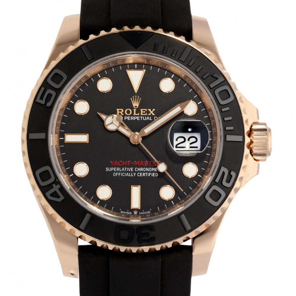 YACHT MASTER 126655 ROSE GOLD 18K RUBBER 40MM W4860 126655-01