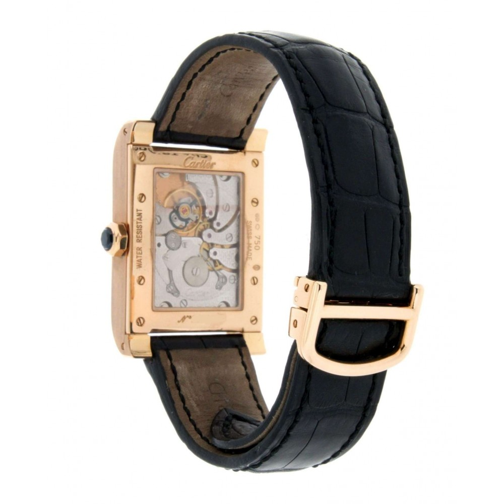 TANK AVIS W1537651 DUAL TIME ZONE IN 18KT ROSE GOLD W221 W1537651-03