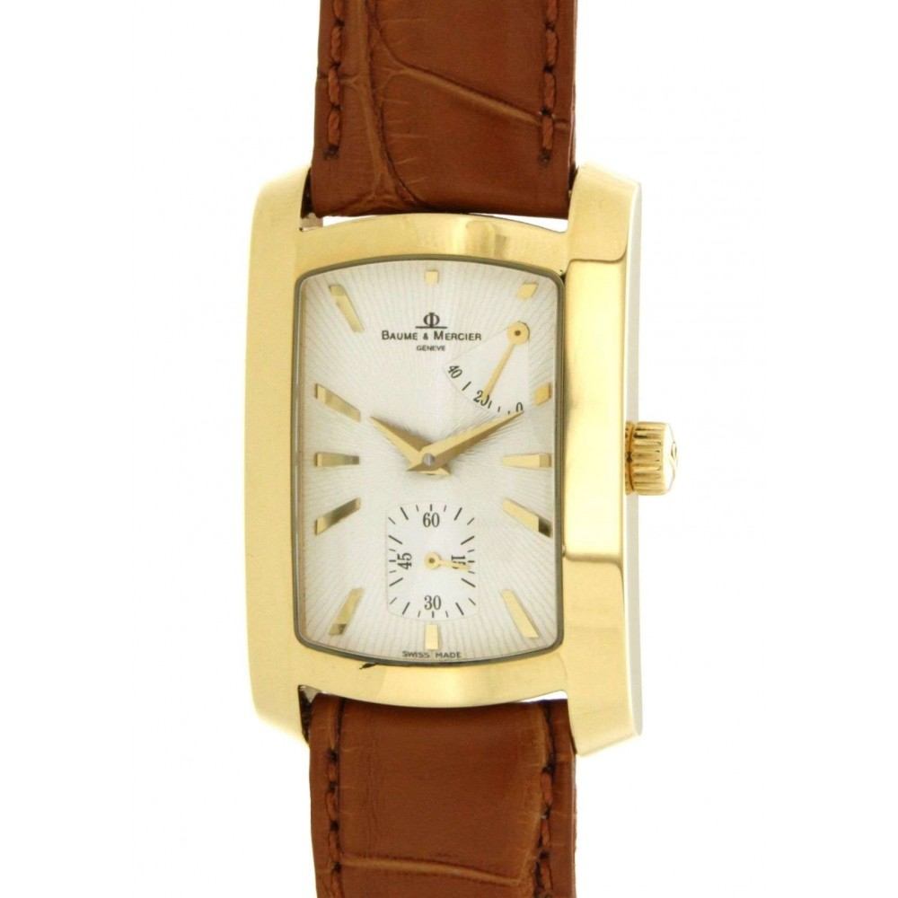 HAMPTON IN YELLOW GOLD AND LEATHER W826 3280499-05