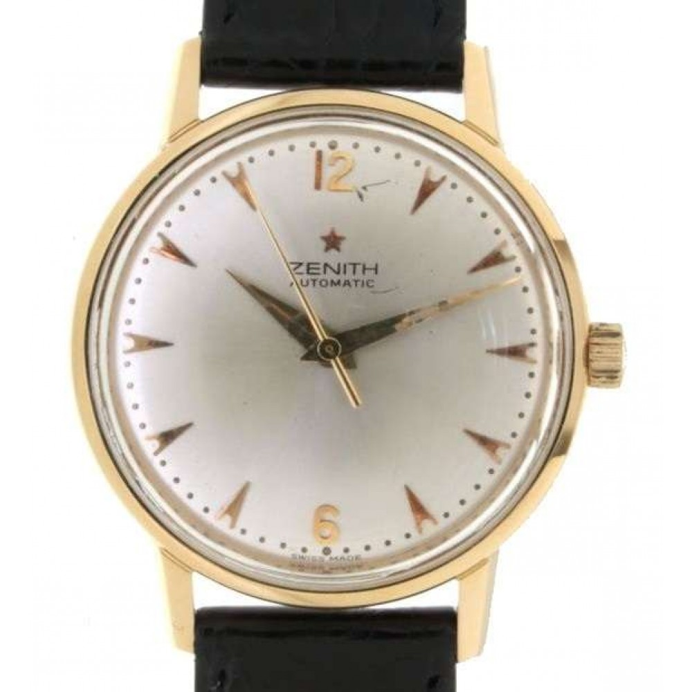 MARTELLO YELLOW GOLD LEATHER 35MM HAMMER MOVEMENT W638 1234-03