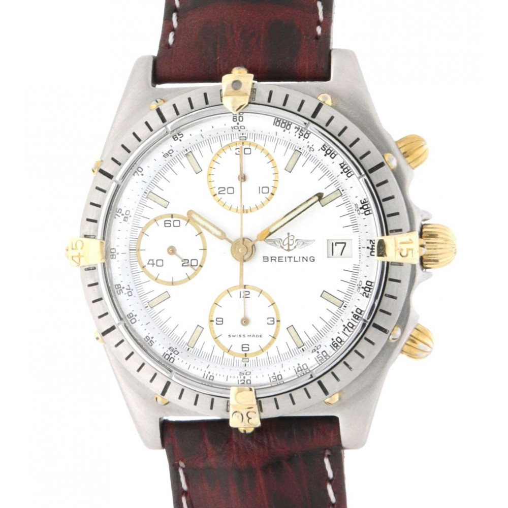 CHRONOMAT 81.950 STEEL, YELLOW GOLD, LEATHER, 39MM W1474 81.950-03