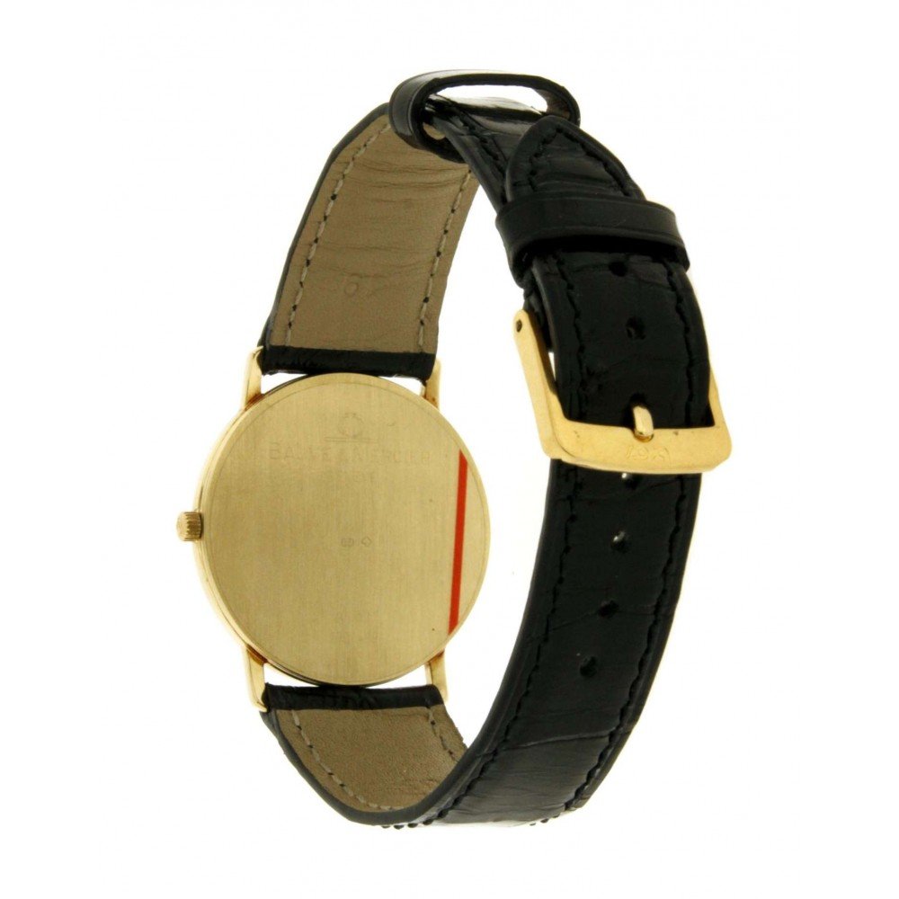BandM CLASSIC YELLOW GOLD 14KT, LEATHER, 32MM W1299 1234-03