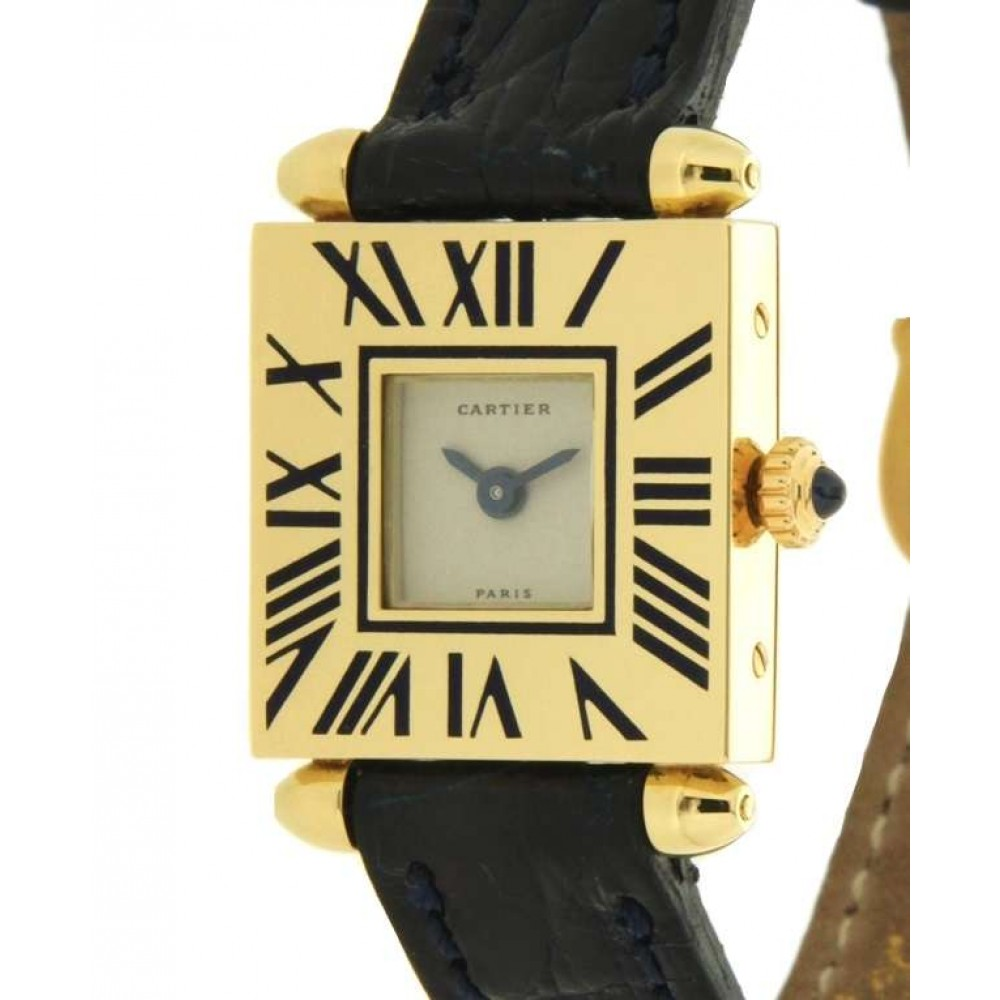 CARTIER CARRÈ OBUS IN 18KT YELLOW GOLD W852 1234-03