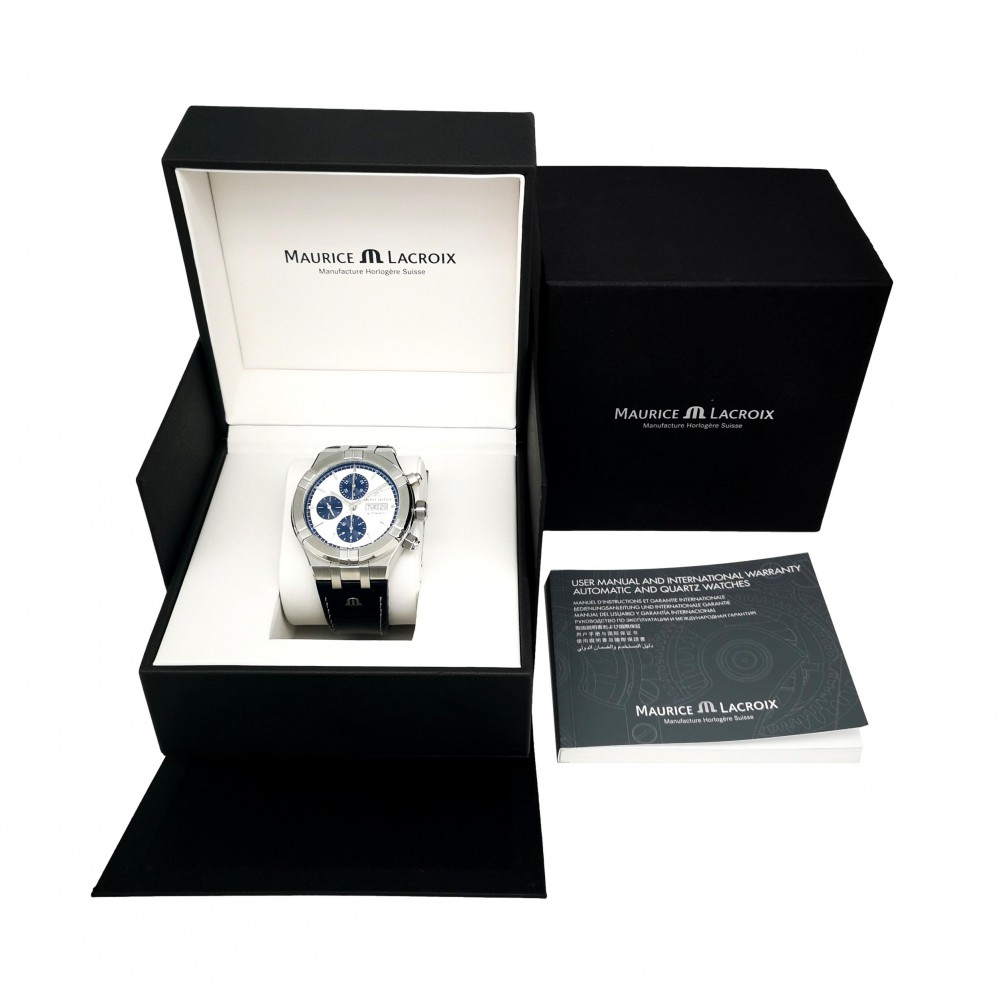 AIKON CHRONOGRAPH AUTOMATIC AI6038-55001-131-1 STAINLESS STEEL NEW 44MM W5436 AI6038-55001-131-1-09
