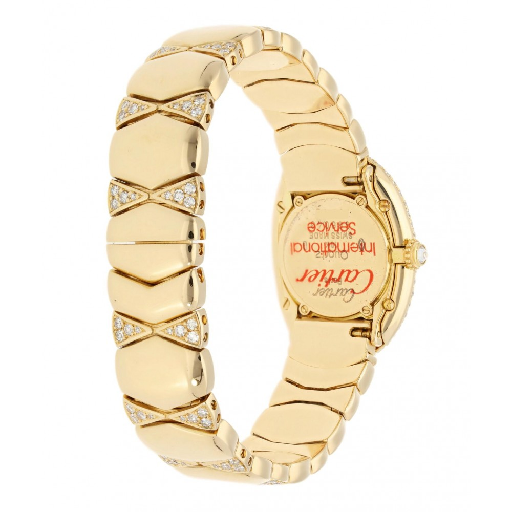 BAIGNOIRE WB5094D8 YELLOW GOLD ORIGINAL PAVÉ DIAMONDS QUARTZ 32MM W4797 WB5094D8-02