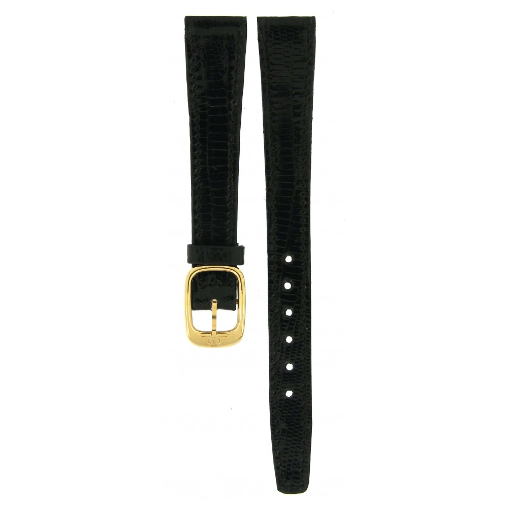 BAUME and MERCIER SHINY BLACK LIZARD LEATHER STRAP 13MM/10MM ACC519 .-02