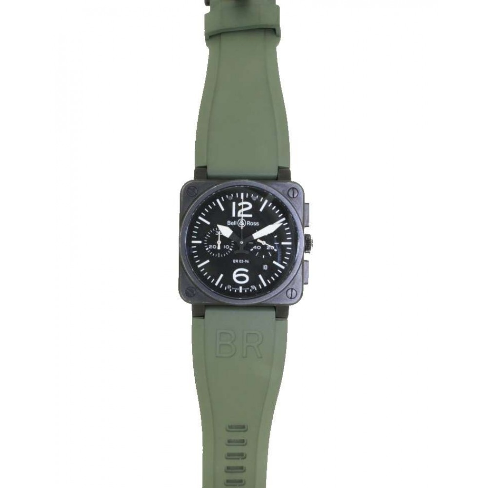 "AVIATION TYPE ""MILITARY SPECIAL"" IN STEEL AND CAUCCIU, 42MM W615 BR03-94-07"