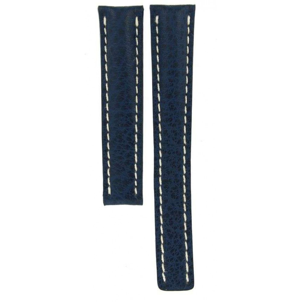 BREITLING BLUE LEATHER STRAP 305X FOR DEPLOYMENT BUCKLES 18MM/16MM ACC930 305X-01