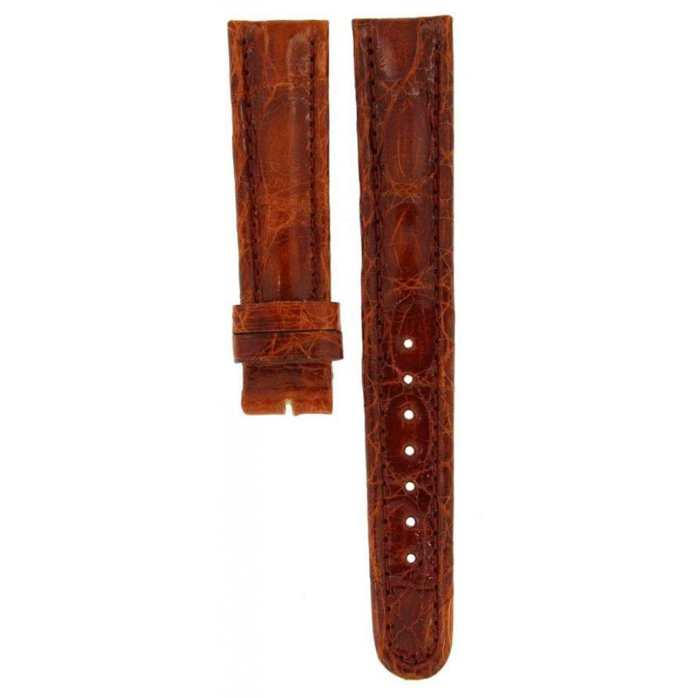BREITLING SHINY BROWN CROCODILE LEATHER STRAP 18MM/16MM ACC931-01