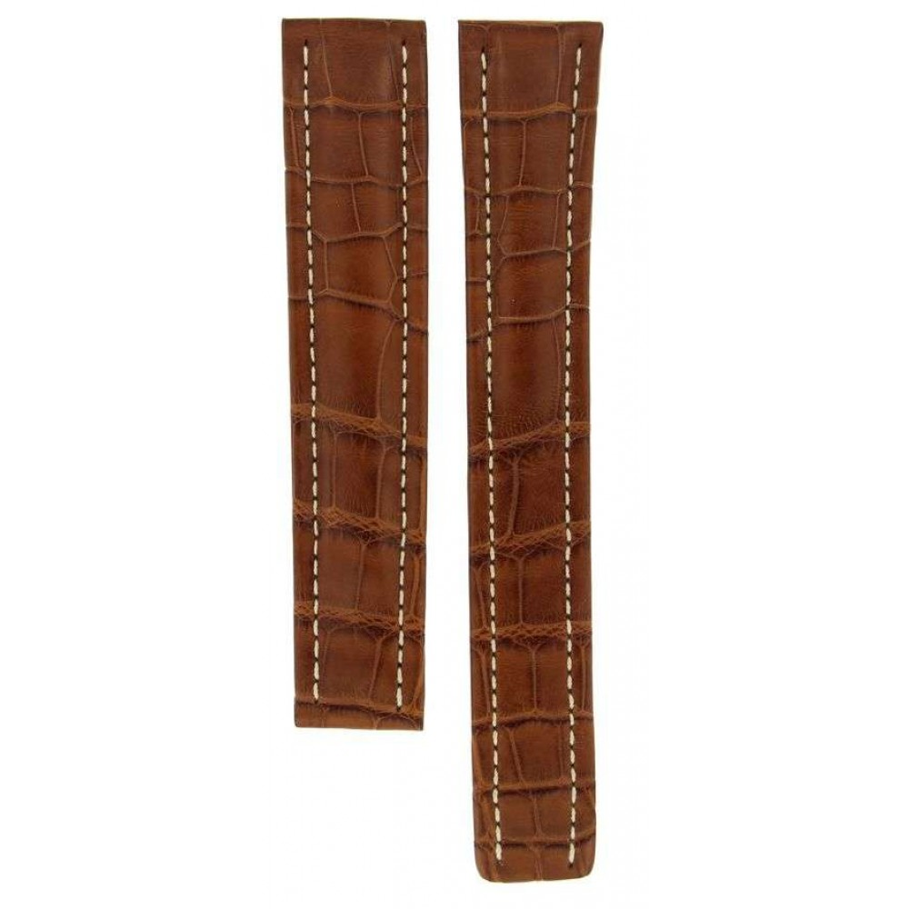 BREITLING BROWN (XL) CROCODILE LEATHER STRAP FOR DEPLOYMENT BUCKLES 20MM/18MM ACC923-01