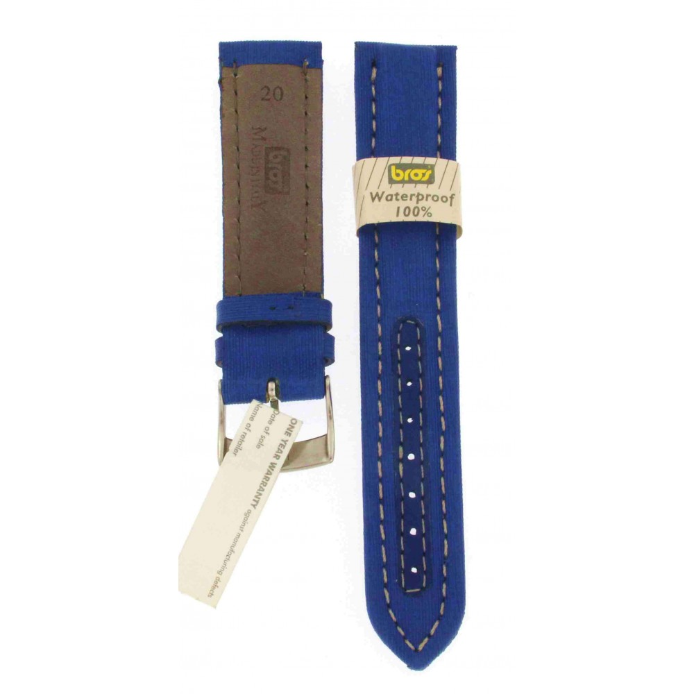 BROS BLUE TEXTILE WATER PROOF STRAP 20MM ACC186-01