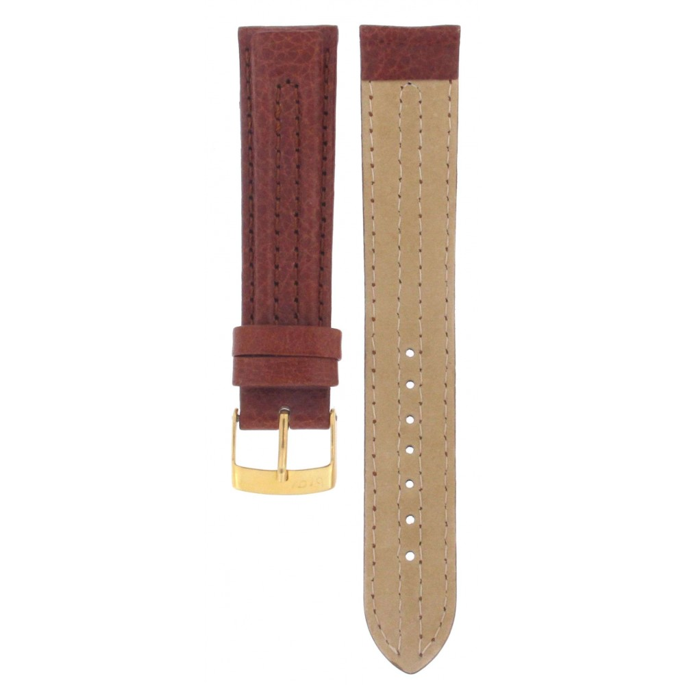 BROS BROWN CALF LEATHER STRAP 18MM ACC44-02