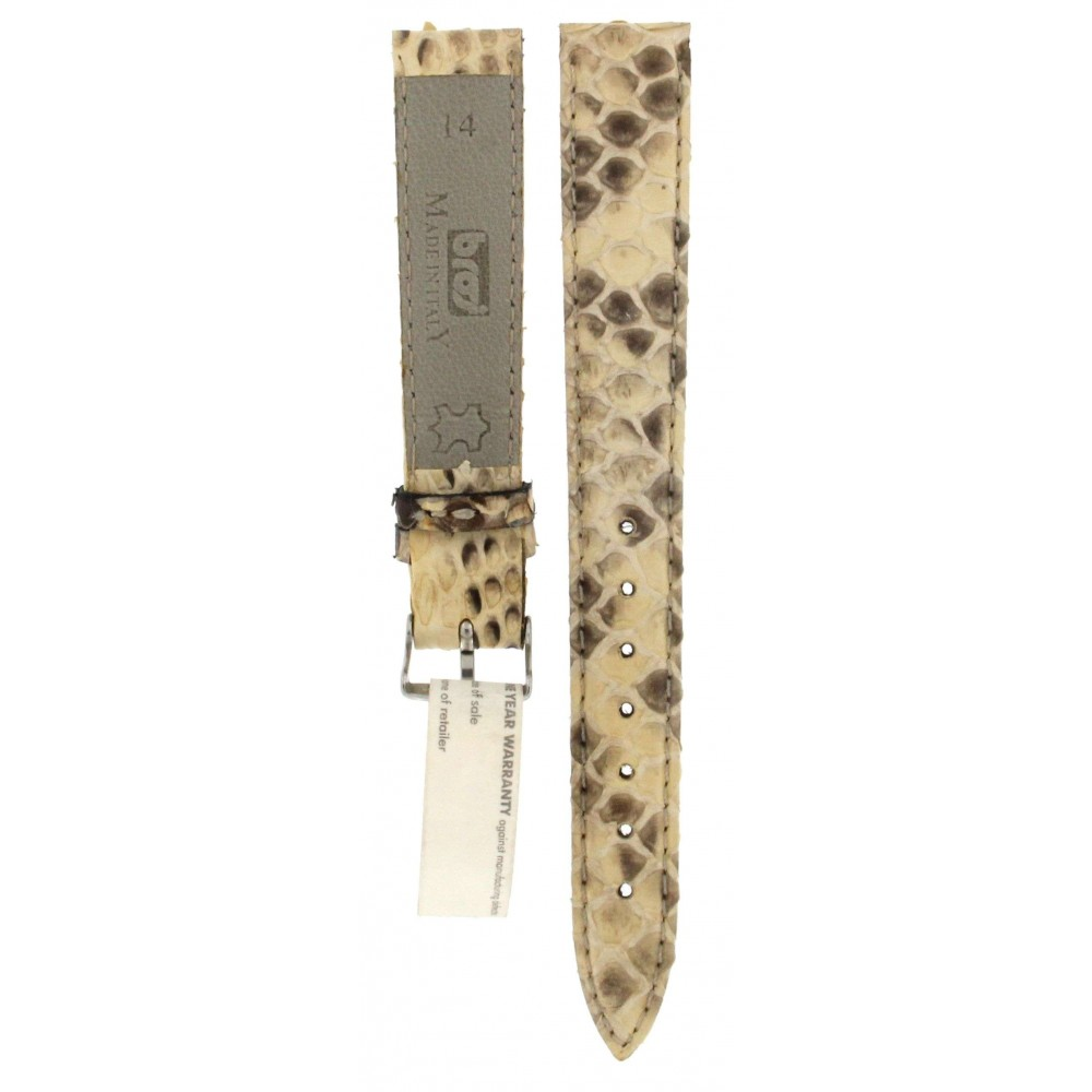 BROS BEIGE and BLACK SNAKE LEATHER STRAP 14MM ACC314-01