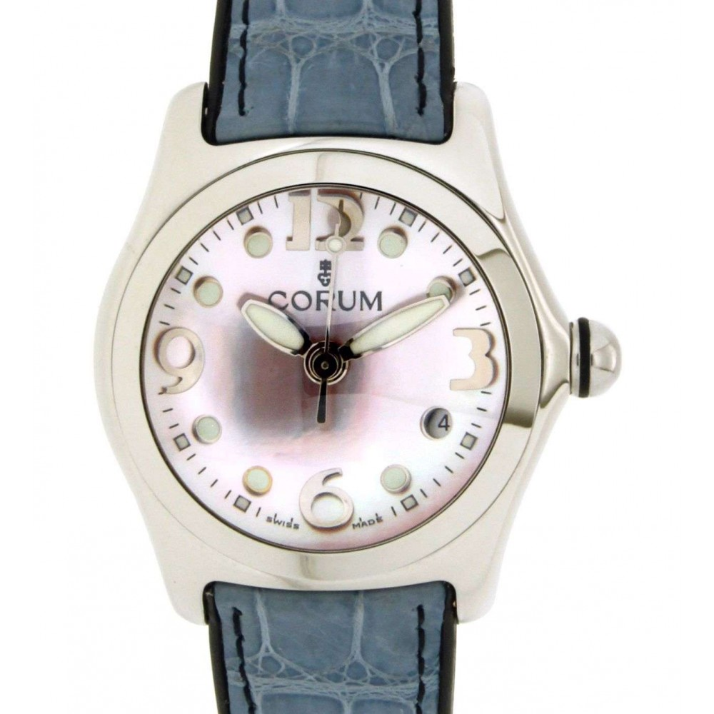 BUBBLE 39.150.20 STEEL, LEATHER, 36MM W1370 39.150.20-02