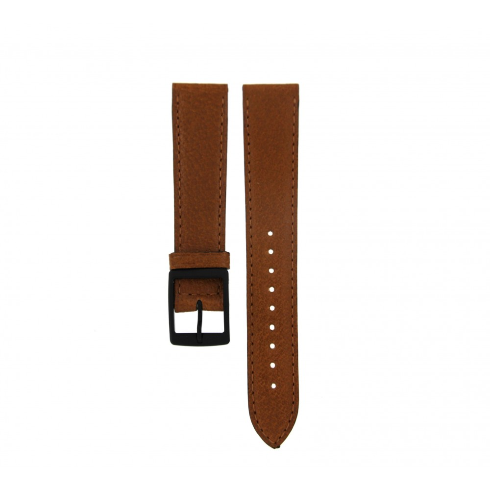 BVLGARI CAMEL BROWN LEATHER STRAP 18MM/16MM-02