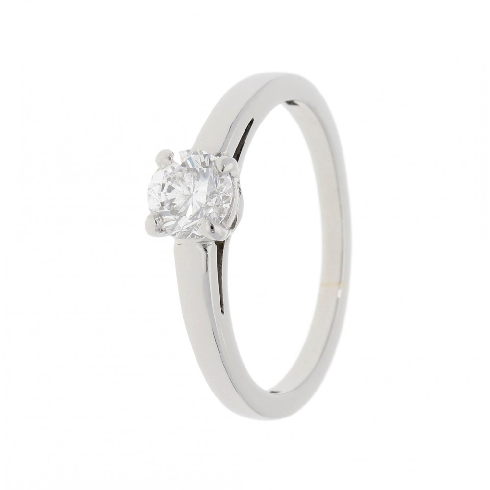 SOLITAIRE DIAMOND RING IN PLATIN 0.502CT J947-01