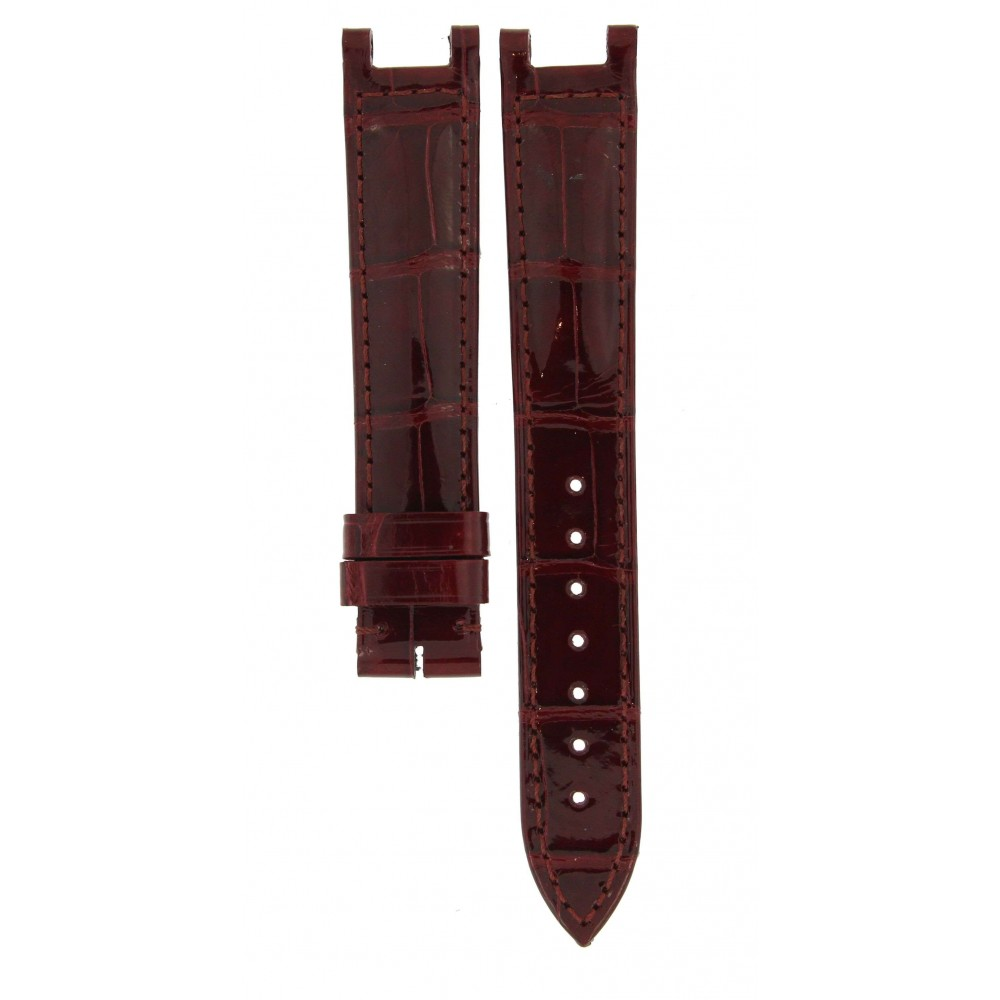 CARTIER BORDEAUX CROCODILE LEATHER STRAP 15.5MM/14MM ACC622 .-00