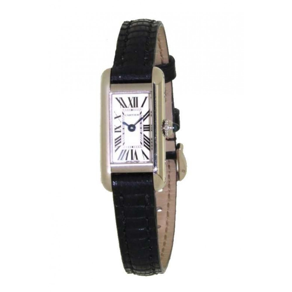 MINI TANK Americaine LADY W1540856 IN WHITE GOLD AND LEATHER W503 W1540856-01