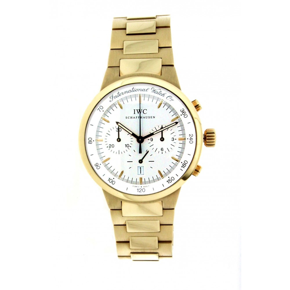 IWC GST CHRONO 9557 YELLOW GOLD 37MM W208 9557-010