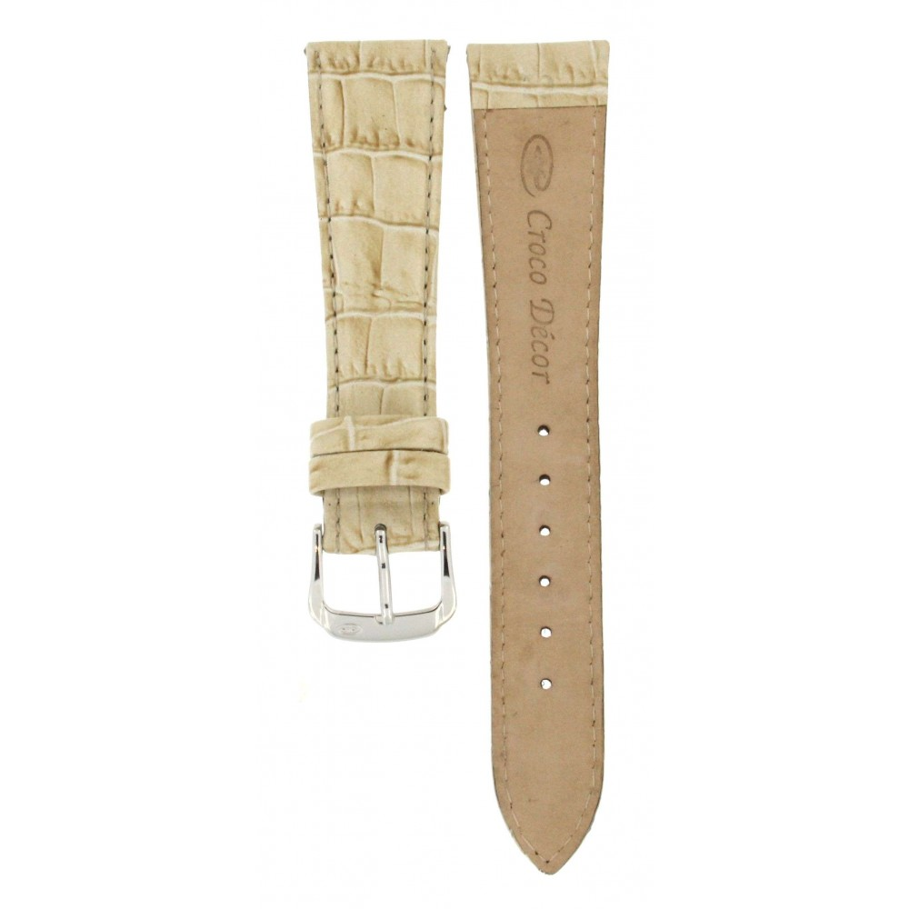 CROCO DÉCOR BEIGE GENUINE CROCODILE 20MM ACC206-02