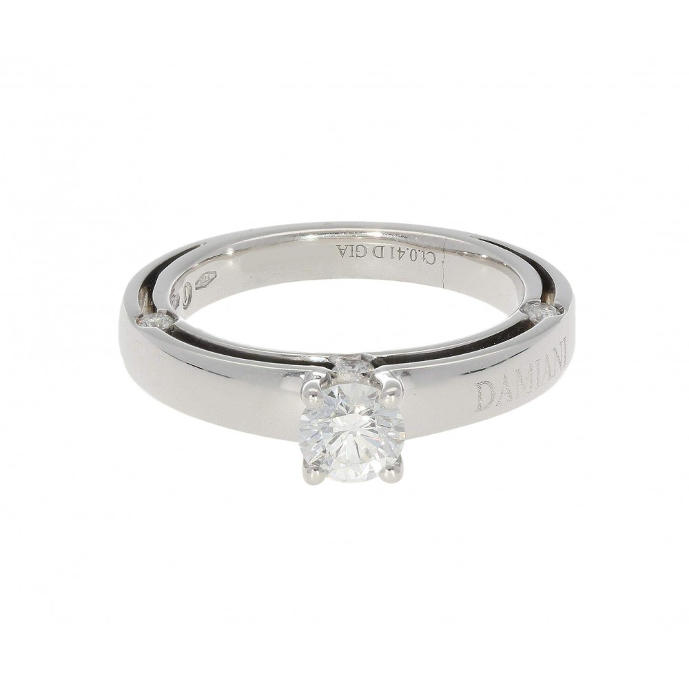 DAMIANI D SIDE IN WHITE GOLD 18K AND 0.41 ct DIAMOND D/VVS2 J1162-01