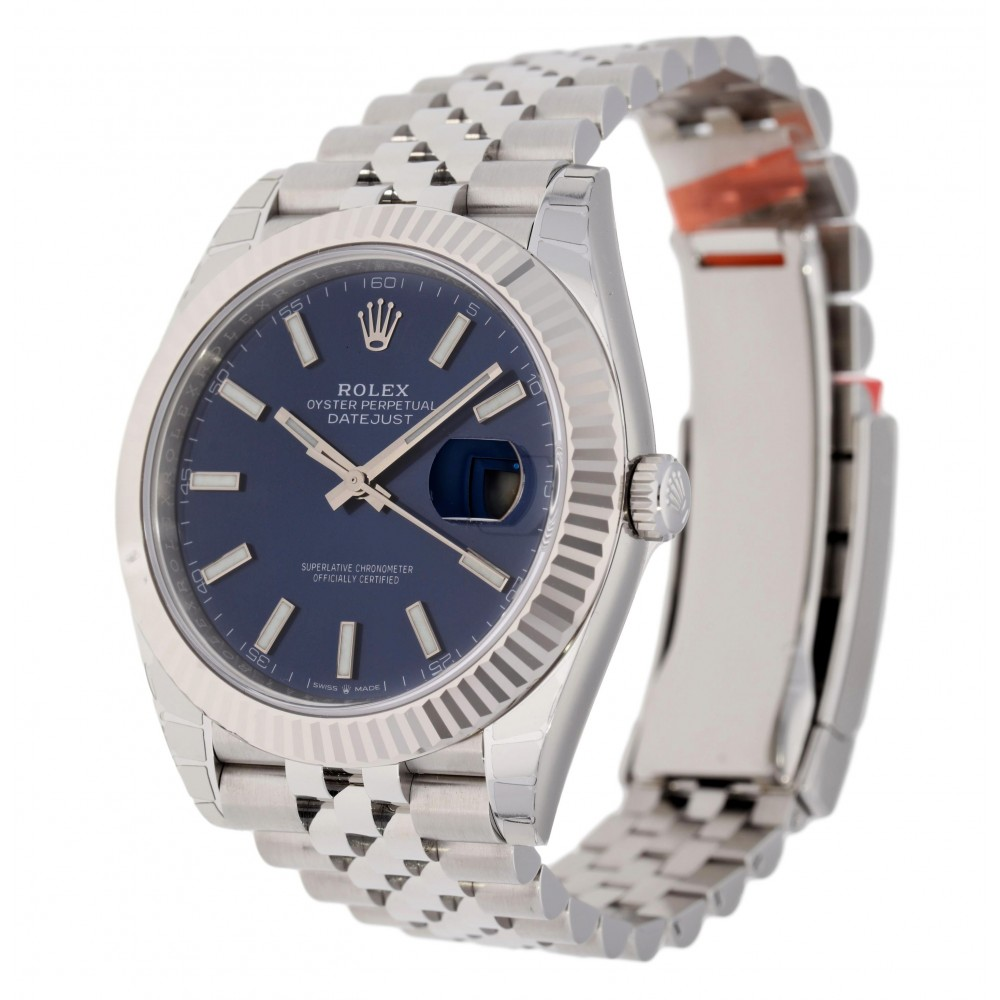 DATEJUST II 126334 STAINLESS STEEL BLUE DIAL 41MM W3512 126334-07