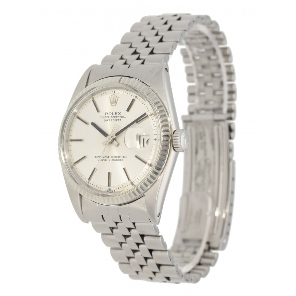 DATEJUST 1601 STEEL WHITE GOLD BEZEL AUTOMATIC 36MM W3893 1601-02