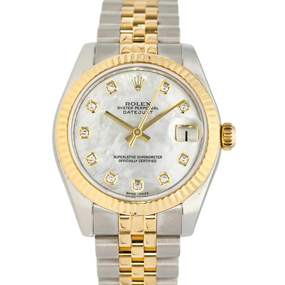 DATEJUST 178273 STAINLESS STEEL YELLOW GOLD MOTHER OF PEARL 31MM YEAR 2010 W5147 178273-02