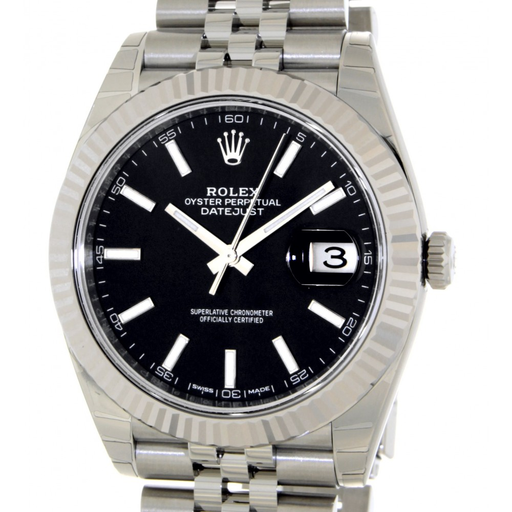 DATEJUST II 126334 STAINLESS STEEL 41MM FULL SET NEW W5184 126334-04