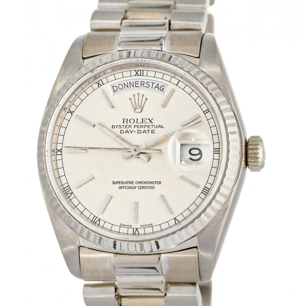 DAY DATE 18039 WHITE GOLD 36MM W3746 18039-05
