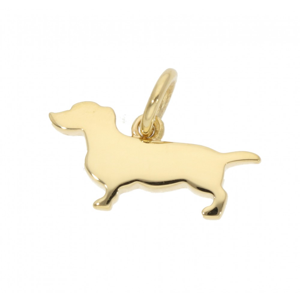 PENDANT DODO POMELLATO DOG YELLOW GOLD 2GR J1107-01