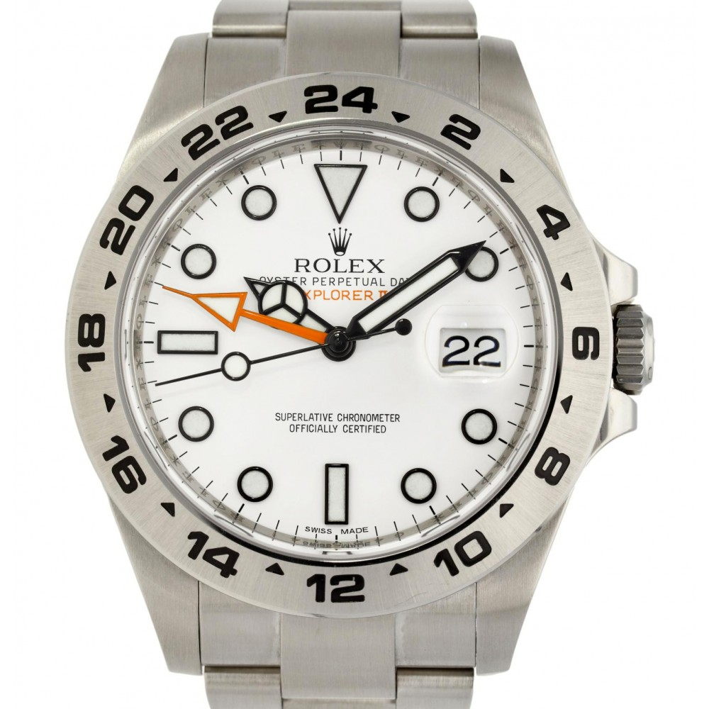 EXPLORER II 216570 STAINLESS STEEL WHITE DIAL 42MM W5038 216570-03