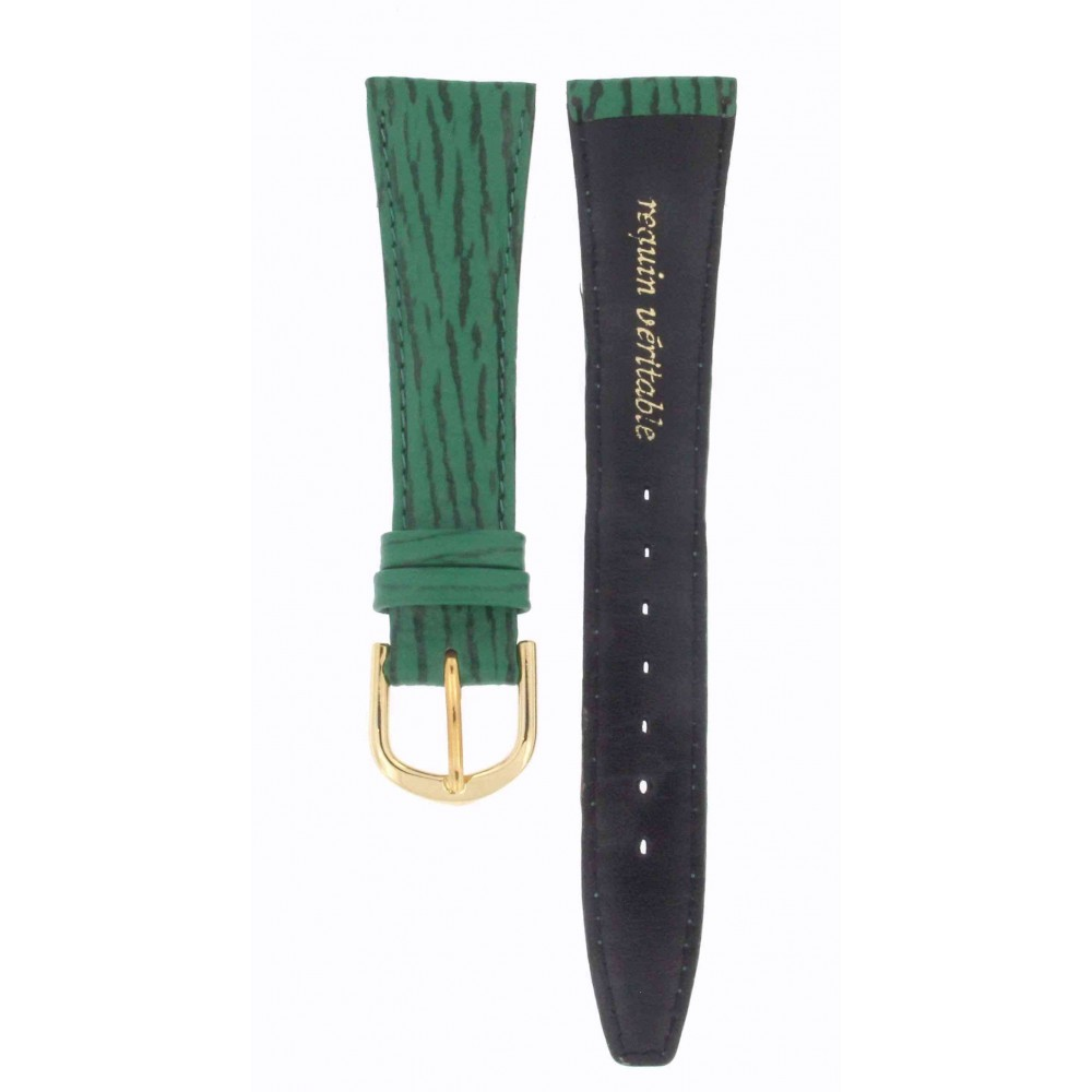 HIRSCH GREEN LEATHER 20MM ACC171-01