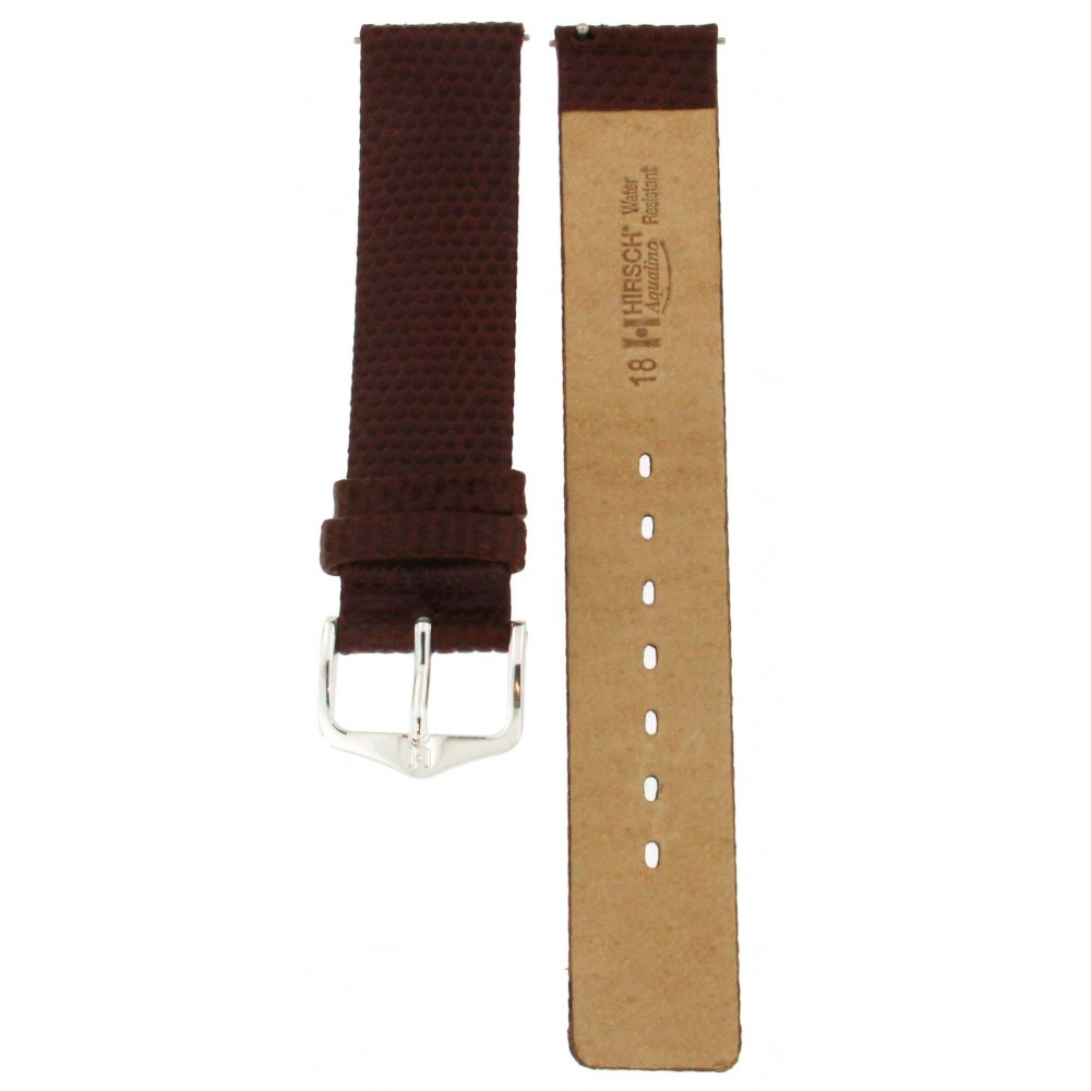 HIRSCH AQUALINO BROWN STRAP 18MM ACC261-02