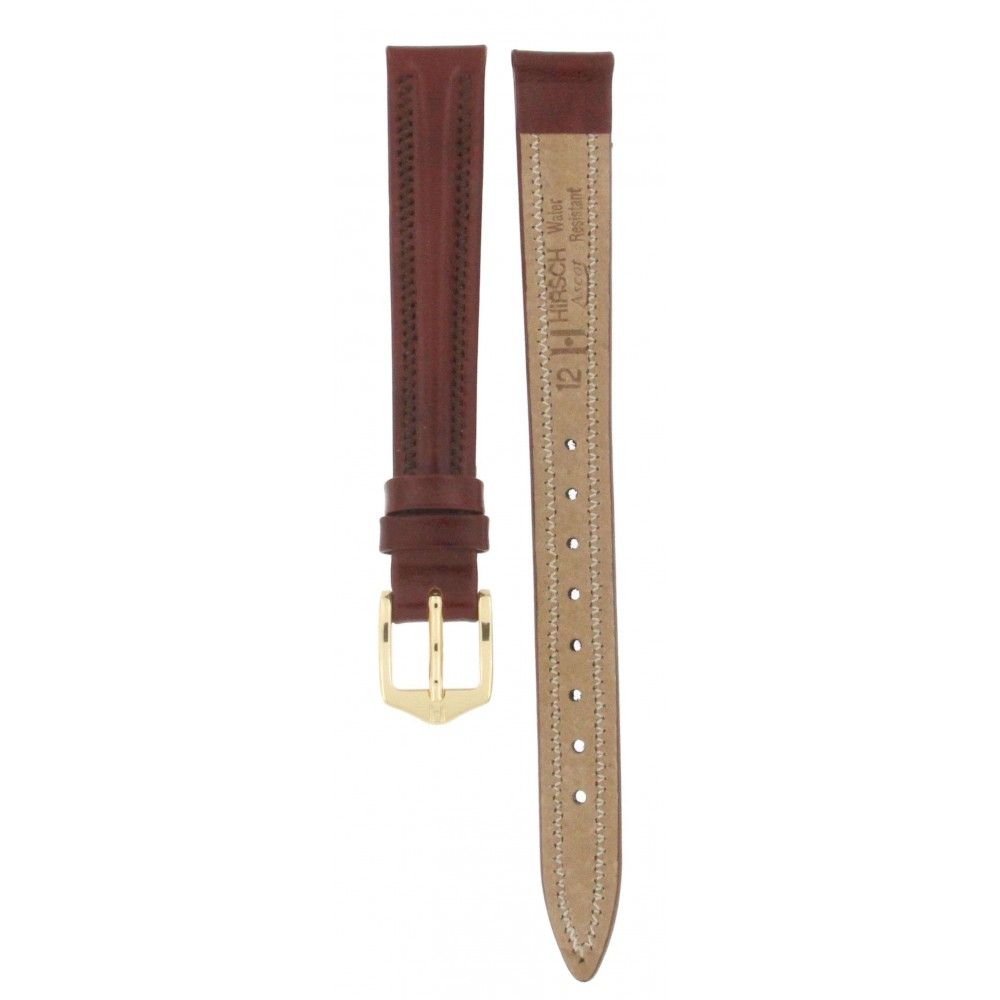 HIRSCH ASCOT BROWN LEATHER 12MM ACC247-02