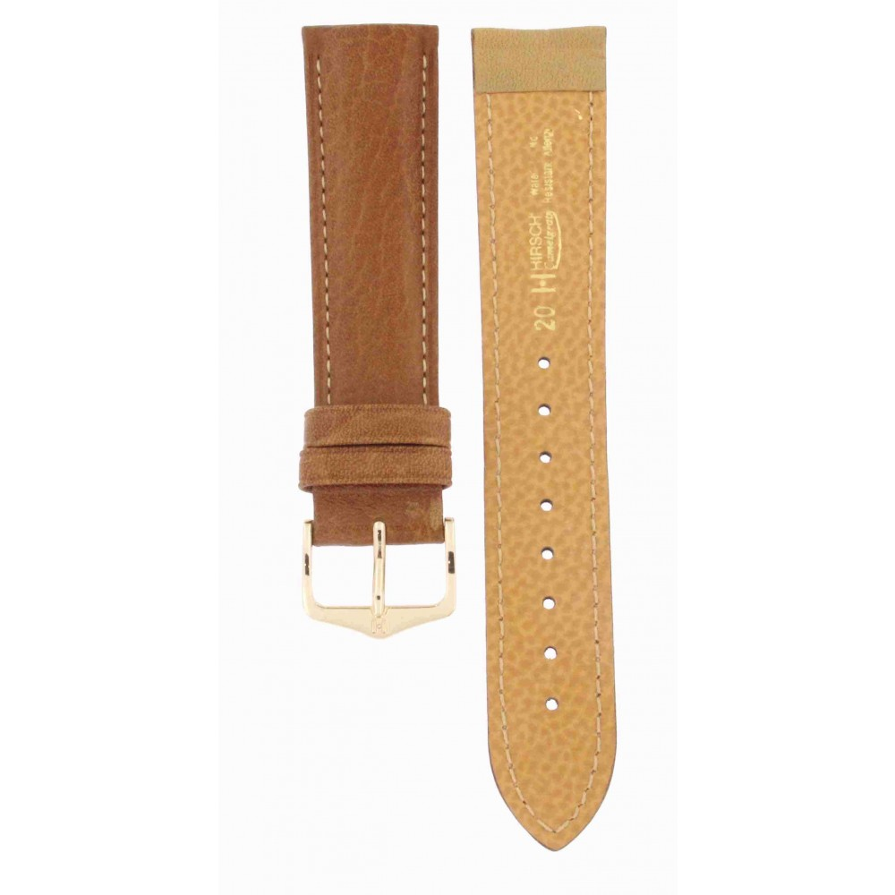 HIRSCH LIGHT BROWN LEATHER 20MM ACC170-01